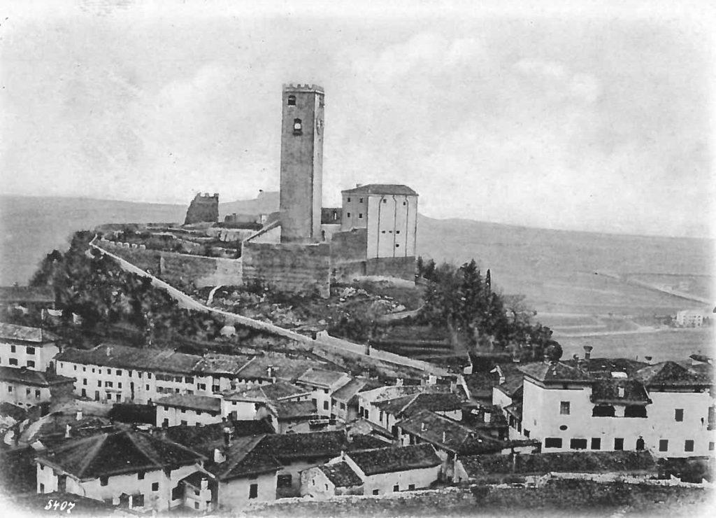 Castello di Gemona, cartolina (si ringrazia Renderworks)